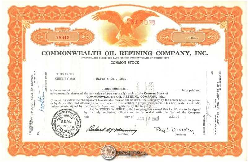 Pfizer /& CO. Stock Certificate Chas Inc